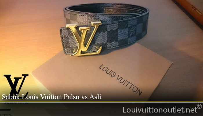 Sabuk Louis Vuitton Palsu vs Asli